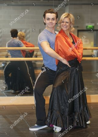 Editorial photo of 'Dancing on Ice' contestants Ray Quinn and Maria Fillipov attend dance lessons at Sadler's Wells Theatre, London, Britain - 14 Mar 2009