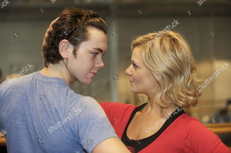 Editorial image of 'Dancing on Ice' contestants Ray Quinn and Maria Fillipov attend dance lessons at Sadler's Wells Theatre, London, Britain - 14 Mar 2009