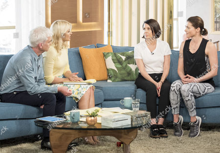 Phillip Schofield and Holly Willoughby with Sadie Frost and Holly Davidson
