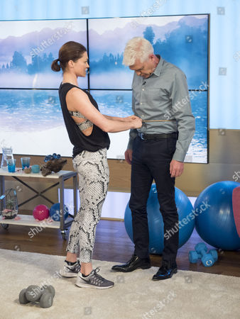 Holly Davidson and Phillip Schofield