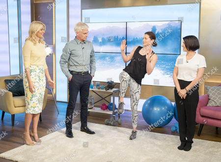 Holly Willoughby and Phillip Schofield with Holly Davidson and Sadie Frost