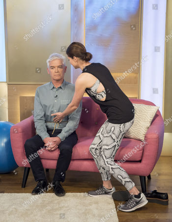 Phillip Schofield and Holly Davidson