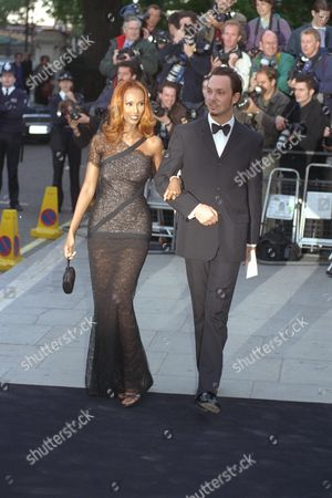 Iman Wife Of David Bowie With Escort Josh Ward. Tate Gallery Centenary Dinner And Celebration Of Princess Diana's 36 Birthday Tuesday 1/7/1997.