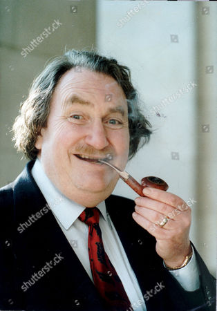 Stock Photo of Sir John Harvey Jones He Has Won Pipesmoker Of The Year Award Pictured Smoking Pipe