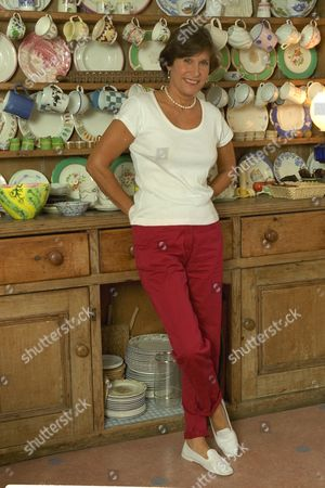 Cook Book Writer Josceline Dimbleby Wife Of David Dimbleby Pictured At Home In Chiswick West London.