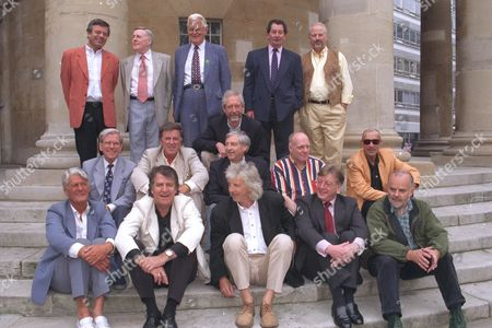 Fifteen Of The Original Radio 1 Dj's Line-up On The Steps Of All Soul's Church Central London This Morning (friday) In A Recreation Of The Original Publicity Photograph Taken 30 Years Ago That Launched The New Station. (l-r) Back Row: Tony Blackburn Jimmy Young Robin Scott (1st Controller) Scott Died February 2000. Duncan Johnson (squatting) Dave Cash And Pete Brady; Middle Row: Bob Holness Terry Wogan Keith Skues Chris Stenning And Pete Myers; Front Row: Pete Murray Ed Stewart Pete Drummond Mike Ahern And John Peel (died 25 October 2004) . Those Missing From The Original Picture Are Barry Aldiss Kenny Everett And Mike Paven All Deceased; Mike Lennox Johnny Moran Dave Rider And David Symonds Who Were Not Able To Attend.