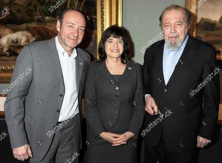Stock Picture of Kevin Spacey, Barbara Follett and Sir Peter Hall