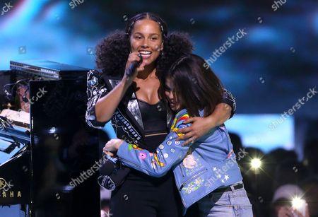 Alicia Keys and Selena Gomez