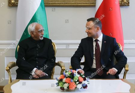 Editorial picture of Indian vice president Mohammad Hamid Ansari visits Poland, Warsaw - 27 Apr 2017