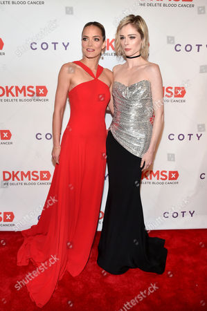 Katharina Harf and Coco Rocha