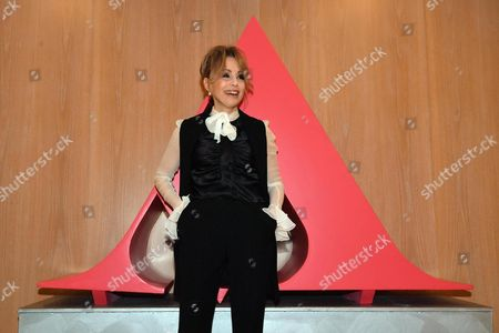 Chairman of Mondadori, Marina Berlusconi, at the headquarters of the publishing house for the shareholders' meeting in Segrate, near Milan, northern Italy, 27 April 2017.