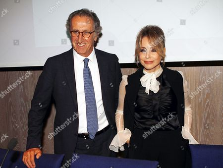 Ernesto Mauri CEO Mondadori and Marina Berlusconi