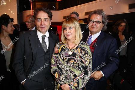 Giovanni di Lorenzo, Patricia Riekel and Helmut Markwort