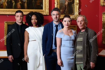 Cosmo Jarvis, Naomi Ackie, director William Oldroyd, Florence Pugh and Christopher Fairbank