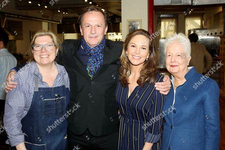 Stock Image of Chef Maria Sinskey, Arnaud Viard, Diane Lane, Eleanor Coppola (Director)