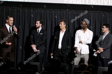 John Cena, Aaron Taylor-Johnson, Doug Liman, Dwain Worrell and Dave Karger