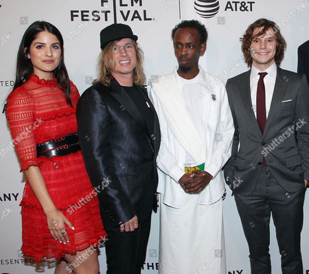 Kiana Madani, Bryan Buckley, Barkhad Abdi and Evan Peters