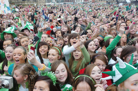 The St Patricks Day crowd