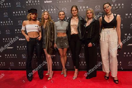Cosima Auermann, Chiara Moon, Sophia Thomalla, Elena Carriere, Luna Schweiger and Emma Ferrer
