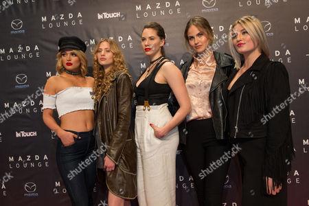 Cosima Auermann, Chiara Moon, Elena Carriere, Luna Schweiger and Emma Ferrer
