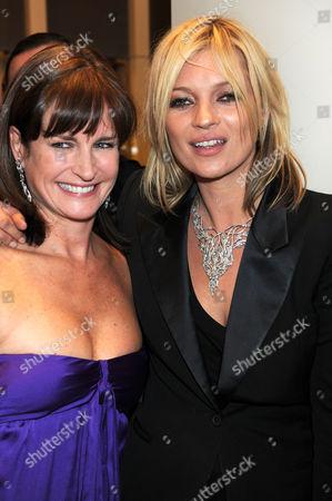 Miranda Davis and Kate Moss