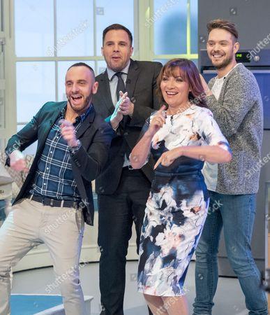 Mark Heyes, Dan Wooton, Lorraine Kelly and John Whaite