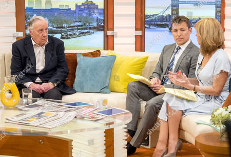 Frederick Forsyth with Ben Shephard and Kate Garraway