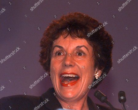 Editorial image of Conservative Party Conference Blackpool 1997. Gillian Shephard (now Baroness Shephard Of Northwold) Addresses Conference.