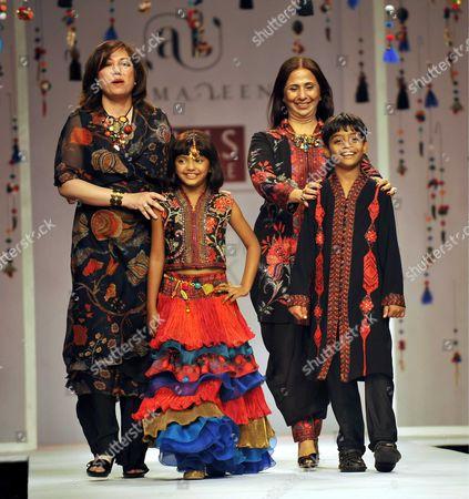Rubina Ali Qureshi and Azharuddin Ismail of Slumdog Millionaire, Designers Aseema and Leena Singh