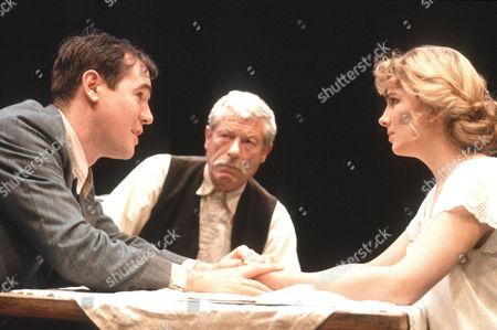 David Herlihy (Mat Burke), John Woodvine (Chris Christopherson) and Natasha Richardson (Anna Christie)