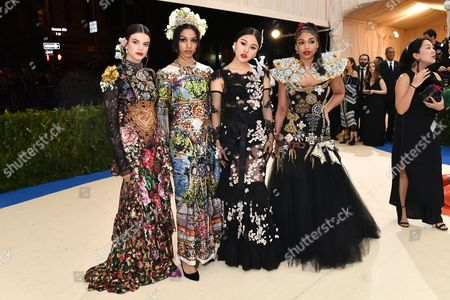 Stock Image of Lori Harvey, Natasha Lau, Corinne Bishop and Sonia Ben Ammar