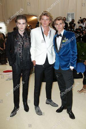 Gabriel-Kane Day Lewis, Jordan Barrett and Presley Gerber