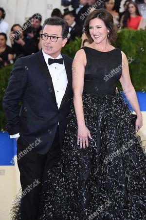 Stock Photo of Stephen Colbert, Evelyn Colbert