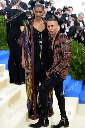 Stock Picture of Ysaunny Brito and Olivier Rousteing