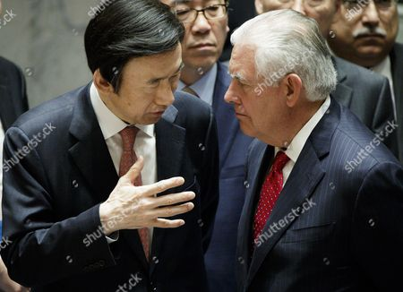 Yun Byung-se and Rex Tillerson