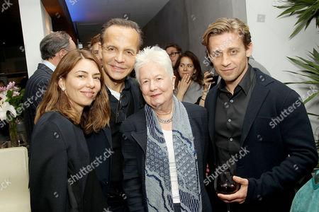 Stock Image of Sofia Coppola, Louis Licari, Eleanor Coppola, Guest