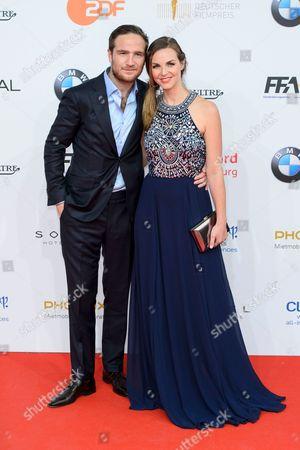 Stock Picture of Frederick Lau mit Ehefrau Annika Kipp
