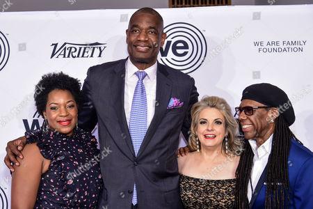 Rose Mutombo, Dikembe Mutombo, Nancy Hunt, Nile Rodgers