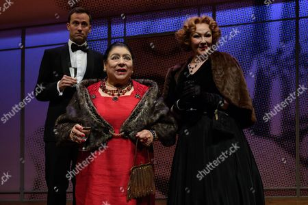 Miriam Margolyes, Frances Barber, and Jonathan Forbes