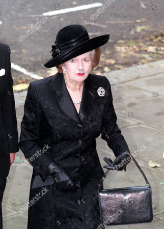 Lady(margaret)thatcher..... Arriving At The St. Johns Church Smith Square This Morning For A Memorial Service For The Late Sir James Goldsmith.