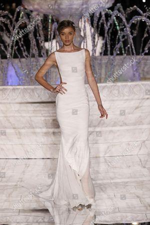 Stock Image of Giulia Maenza on the catwalk