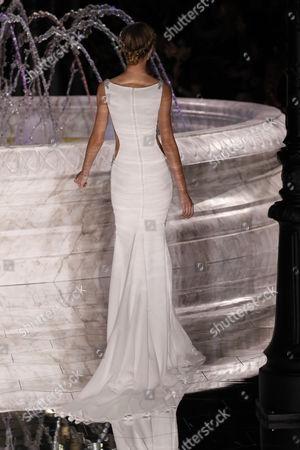Stock Photo of Giulia Maenza on the catwalk
