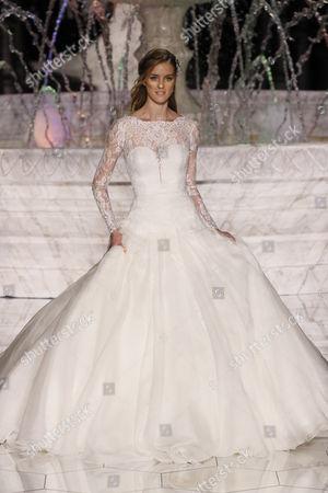 Stock Photo of Julia Frauche on the catwalk