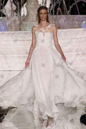Editorial picture of Pronovias show, Runway, Barcelona Bridal Fashion Week, Barcelona, Spain - 28 Apr 2017