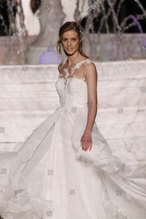 Stock Picture of Julia Frauche on the catwalk