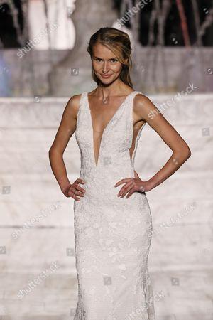 Svieta Nemkova on the catwalk