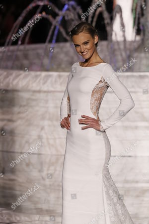 Editorial photo of Pronovias show, Runway, Barcelona Bridal Fashion Week, Barcelona, Spain - 28 Apr 2017