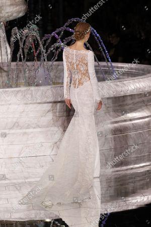 Editorial image of Pronovias show, Runway, Barcelona Bridal Fashion Week, Barcelona, Spain - 28 Apr 2017
