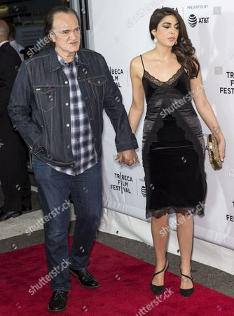 Stock Picture of Director Quentin Tarantino and Costume Designer Courtney Hoffman
