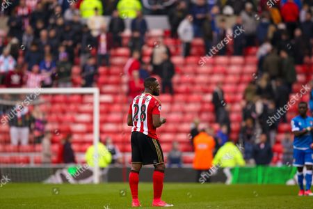 Sunderland forward Victor Anichebe (28) at the end of the game during the Premier League match between Sunderland and Bournemouth at the Stadium Of Light, Sunderland